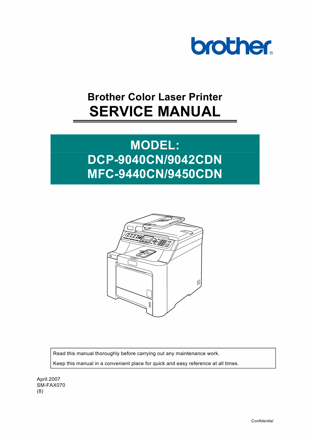 Brother MFC 9440CN 9450CDN DCP9040CN 9042CND Service Manual-1